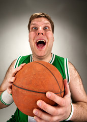 Bizarre basketball player