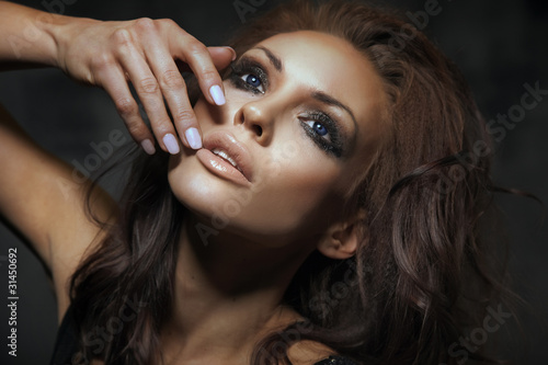 Portrait of beautiful brunette lady