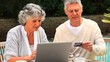 Mature couple buying online