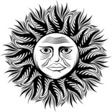 sun face tattoo