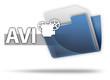 "3D Style Folder Icon ""AVI"""