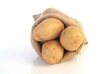 Kartoffeln auf weiß