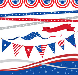 4th of July Borders and Elements