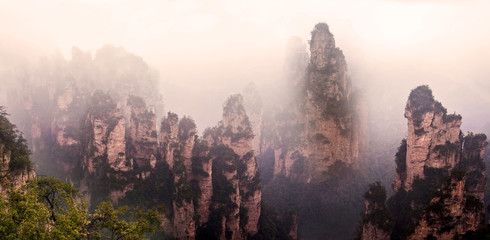 Parc national de Zhangjiajie dans le Hunan - China