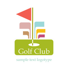Logo Abstract Golf Club # Vector