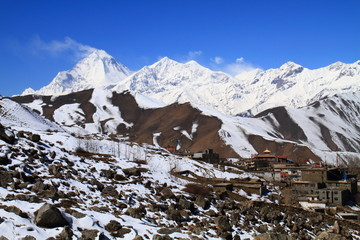Himalayas view from Muktinath