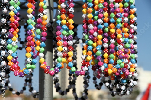Plastic beads jewelry on sale Javea Costa Blanca Alicante Spain