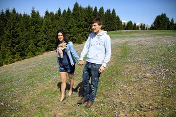 fidanzati in montagna