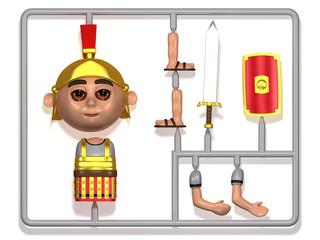 3d Model Roman Soldier plastic construction kit