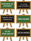 foreign language courses poster