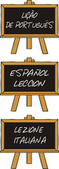 italian, spanish, portuguese language lesson