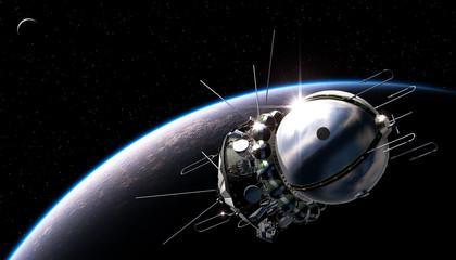 First spaceship on the orbit