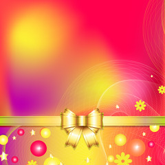 colorful abstract background with bow