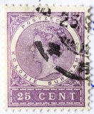 Old Dutch postage stamp for Surinam