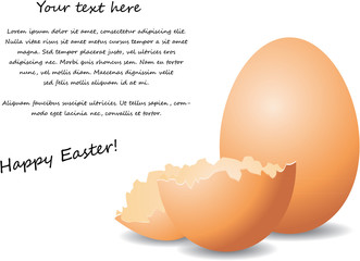 Easter Eggs with text