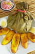 Traditional Peruvian food called Juane from the jungle area