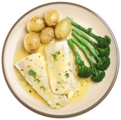 Baked Haddock Fish Fillets & Vegetables