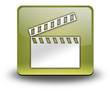 "Yellow 3D Effect Icon ""Clapperboard"""