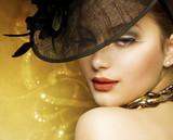 Fototapete Luxury - Gold - Frau