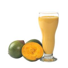 Milkshake out of the Lucuma-Fruit (lat. Pouteria lucuma)