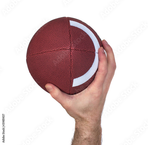 Quarterback Hand and Football Throw