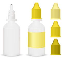 yellow medicine dropper bottle