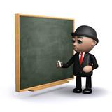 3d Banker goes back to the black board poster