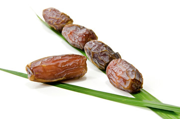 Dates Fruit isolated on white Background