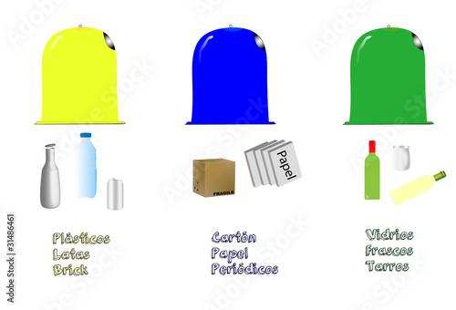 Contenedores de reciclaje stock image and royalty free - Contenedores de reciclar ...