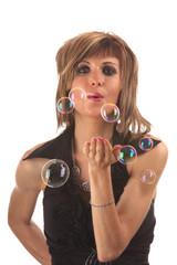 Portrait et bulles