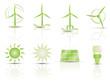Vektor Iconset - Symbole Erneuerbare Energien - 3D (1/2)