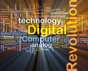 Digital revolution background concept glowing