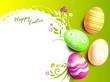 cartolina di pasqua con uova decorate