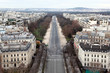view from Arc de Triomphe on Bois de Boulogne in Paris