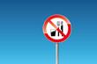 Verbot Essen und Trinken verboten