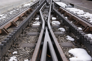 A cog railway, pens and rails railway
