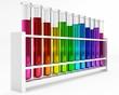 Reagenzgläser - Regenbogen - Farben - Bunt - Chemie