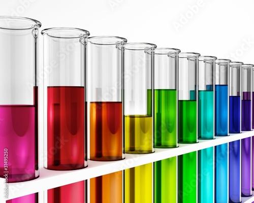 Reagenzgläser - Regenbogen - Farben - Bunt