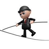 3d Banker walks a tightrope poster