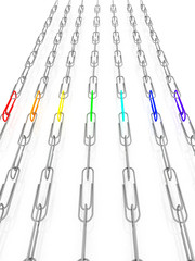 Chain of paper clips