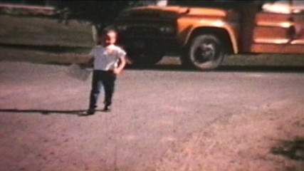 First Day Of School (1967 Vintage 8mm film)