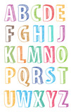 Fototapety hand drawn abc letters