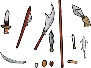Asian Weapons Set I