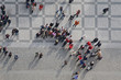 crowd of people in center of town, top view - 31501869