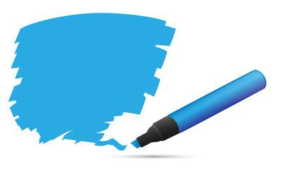 Blaue Markierung