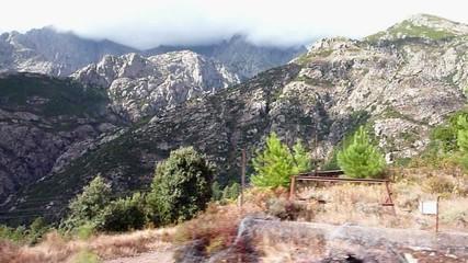 paysage corse vu de train