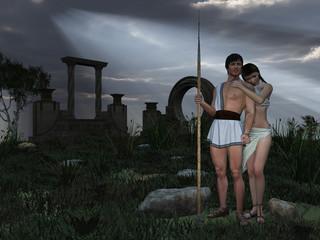 Grecian god and goddess