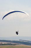 Paraglider silhouette during the spring