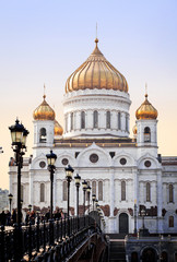 The Cathedral of Christ the Savior in Moscow, Russia