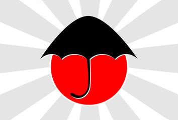 help japan under umbrella